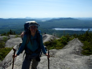Following my heart across the Appalachian mountains- just at the start of my five month journey, loving the rugged wilderness of Maine.